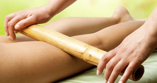 Masaj anticelulitic cu bambus